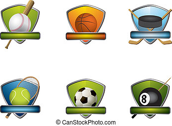 Sport badges and icons collection