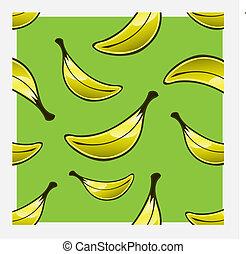Banana Repeat Pattern - Vector repeat pattern of bananas in...