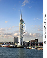Spinnaker Tower - The Spinnaker Tower and waterfront,...
