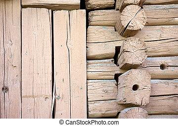 Log cabin - Close-up of old log cabin