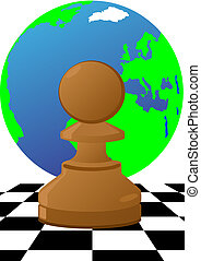 Pawn on the chessboard