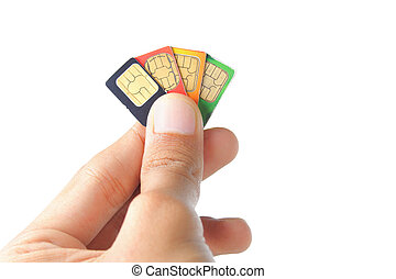 choosing the best sim card - hand choosing the best sim card...