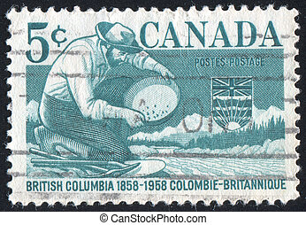 postage stamp - CANADA - CIRCA 1958: stamp printed by...