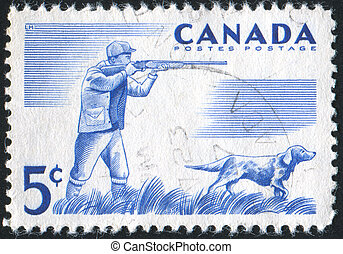 postage stamp - CANADA - CIRCA 1957: stamp printed by...