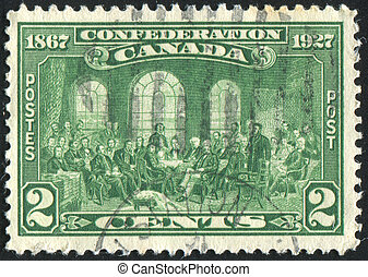 postage stamp - CANADA - CIRCA 1927: stamp printed by...