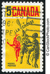 postage stamp - CANADA - CIRCA 1968: stamp printed by...