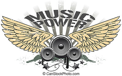 Music power simbol - The vector image of a Music power...