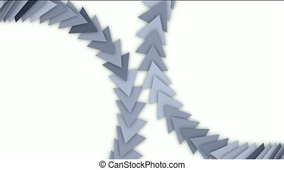 moving arrow and triangle cards array,business computer...