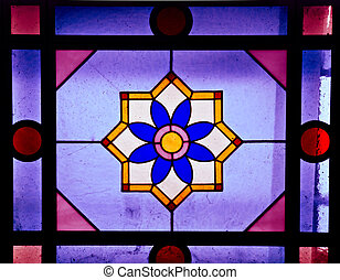 Stained glass - Colorful stained glass texture, useful as a...