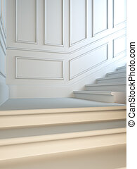 Staircase in classical style.