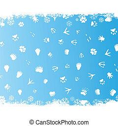 Winter trace