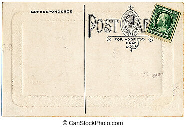 One Cent Postcard - The backside of an old postcard from the...