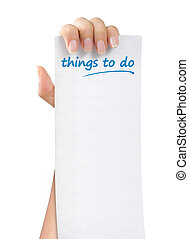 things to do paper note