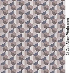 Seamless Tri-Cube Pattern