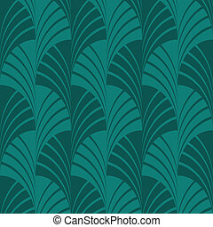 Seamless Green Fan Pattern