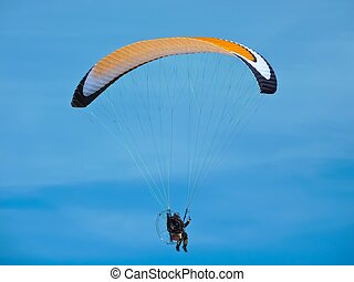 paraglide - paragliding on the sea