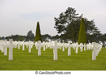 cemetery - an america cemetery in normandy in France