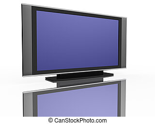 flat LCD tv Liquid-Crystal Display on white