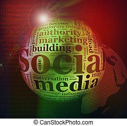 Abstract Social media background - Illustration of social...