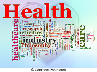 Wordcloud of Healthcare - Words in a wordcloud of...