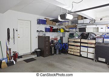 garagem, armazenamento