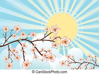 Flowing Sakura tree