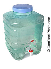 Fresh water container - Fresh water ready to drink is stored...