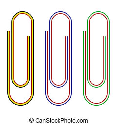 Striped paperclips.
