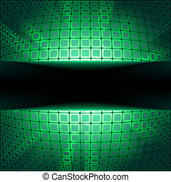 Sphere with green illumination EPS 8 vector file included