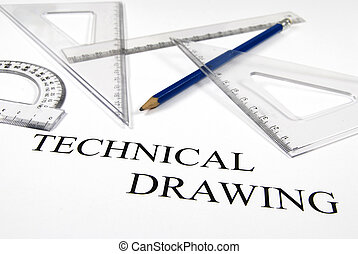 Technical drawing - Instruments ready for the technical...