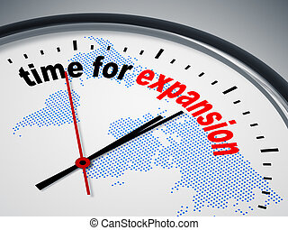 time for expansion - An image of a nice clock with time for...