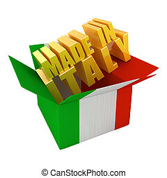 Made in Italy. 3d concept illustration isolated on white