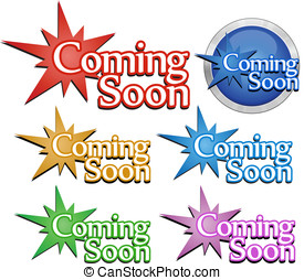 Coming soon signs Vector illustration