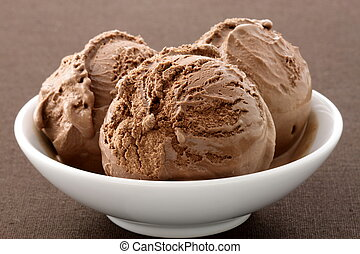 delicious gourmet chocolate ice cream, - real gourmet...