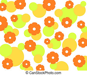 Summer flowers - Flowers pattern in summer colors