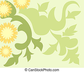Artistic design with flowers