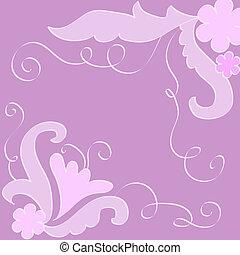 Artistic design on violet background