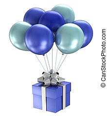 3d shiny ballons - 3d model shiny ballons on white...