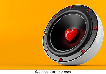 Loving music - 3d render of loving music concept