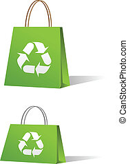 Green sale shopping bags