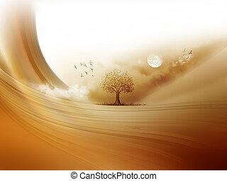 desert tree - tree in the desert - a fantastic landscape