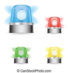 Responder Lights - Image of colorful responder lights...