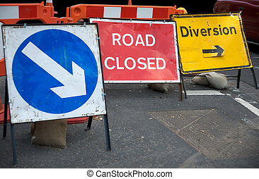 Closed road sign - Signs informing about a closed road