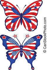 USA butterflys - Beautiful butterflies in different colors...