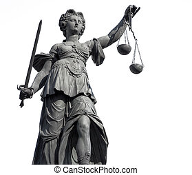Lady Justice - Statue of Lady Justice from Frankfurt, on...
