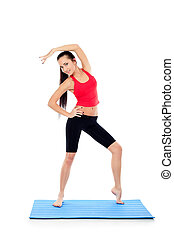 aerobics - Shot of a sporty young woman. Active lifestyle,...