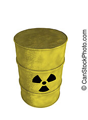 nuclear waste barrel from top - view of nuclear waste barrel...