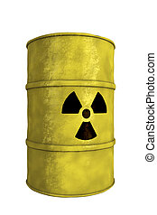 nuclear waste barrel - view of nuclear waste barrel