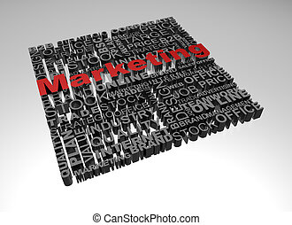 Business words related with highlighted word Marketing