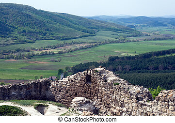 Beautiful landscape with ruins